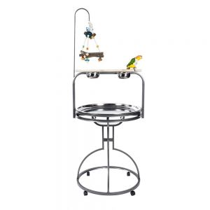 Rainforest Parrot Metal Play Stand