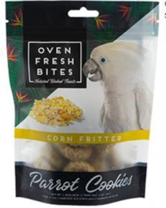 Oven Fresh Birdie Munchies Parrot Treat - Corn Fritter 4oz