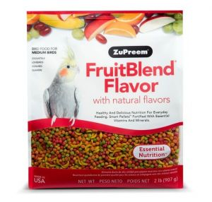 Zupreem FruitBlend Medium Cockatiel Pellet Food 2lb