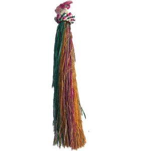 Green and Red Raffia Hat Toy