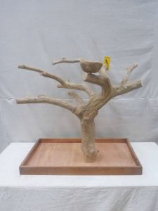 MINI JAVA TABLETOP TREE - LARGE - NATURAL HARDWOOD PARROT STAND L71584