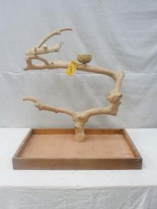MINI JAVA TABLETOP TREE - MEDIUM - NATURAL HARDWOOD PARROT STAND M41904