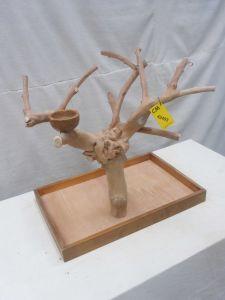 MINI JAVA TABLETOP TREE - MEDIUM - NATURAL HARDWOOD PARROT STAND M42493