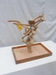 MINI JAVA TABLETOP TREE - MEDIUM - NATURAL HARDWOOD PARROT STAND M42509