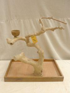 MINI JAVA TABLETOP TREE - MEDIUM - NATURAL HARDWOOD PARROT STAND M42556