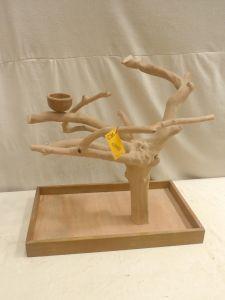 MINI JAVA TABLETOP TREE - MEDIUM - NATURAL HARDWOOD PARROT STAND M42590