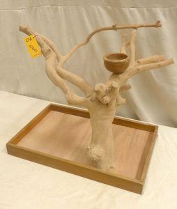 MINI JAVA TABLETOP TREE - MEDIUM - NATURAL HARDWOOD PARROT STAND M42640