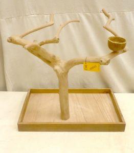 MINI JAVA TABLETOP TREE - MEDIUM - NATURAL HARDWOOD PARROT STAND M42653