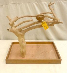 MINI JAVA TABLETOP TREE - MEDIUM - NATURAL HARDWOOD PARROT STAND M42686