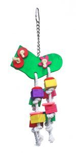 Christmas Stocking Wood Bird Toy