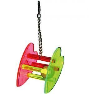 Acrylic Heart SeeSaw Bird Toy