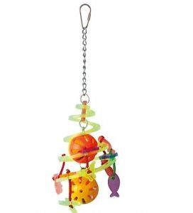 Birdie Whirl Acrylic & Plastic Bird Toy