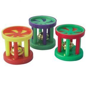 Birdy Barrel Jingle Foot Toy