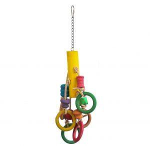 Olympic Winner Wood & Leather Bird Toy