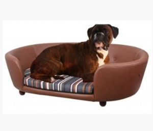 Chester & Wells Kensington Medium Brown Dog Bed