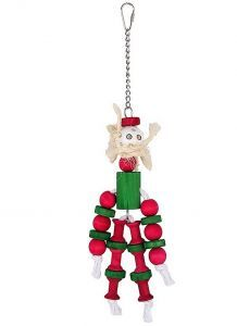 Christmas Doll Wooden Bird Toy