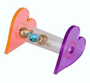 Two Hearts Acrylic Bird Foot Toy