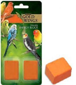 Gold Wings Small Bird Orange Energy Block