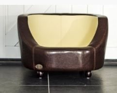 Chester & Wells Oxford I Small Brown Dog Bed