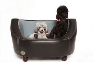 Chester & Wells Oxford I Small Black Dog Bed