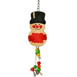 Silly Snowman Wood & Rope Bird Toy