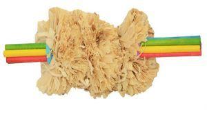 Corn Husk Toss Parrot Foot Toy