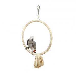 Large Parrot Single White Hoop Toy