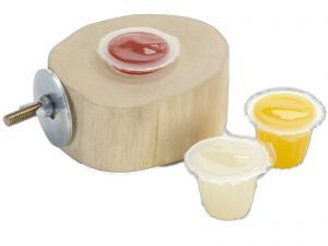 Java Fruit Cup Jelly Holder + 6 Mixed Jelly Pots