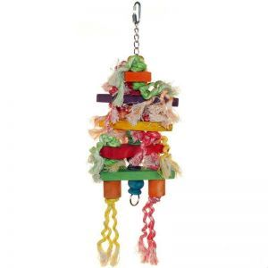 Rope & Stack Medium Parrot Toy