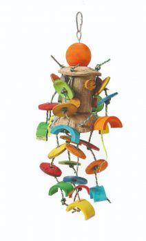 Coconut Jig Wooden Bird Toy