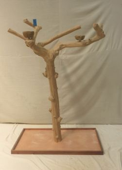JAVA TREE - LARGE - NATURAL HARDWOOD PARROT PLAYSTAND BL60331