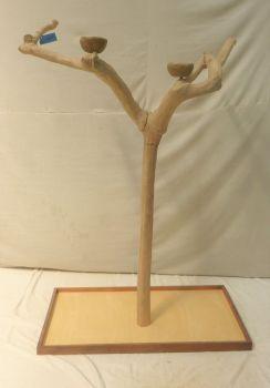 JAVA TREE - LARGE - NATURAL HARDWOOD PARROT PLAYSTAND Bl60345