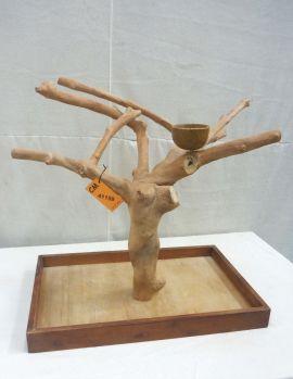 MINI JAVA TABLETOP TREE - MEDIUM - NATURAL HARDWOOD PARROT STAND M41159