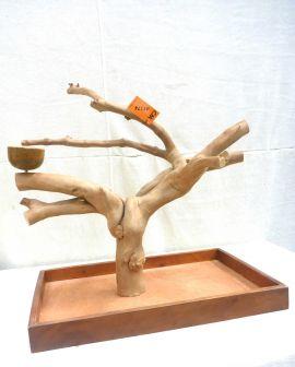 MINI JAVA TABLETOP TREE - MEDIUM - NATURAL HARDWOOD PARROT STAND M41174