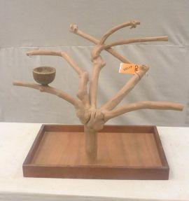 MINI JAVA TABLETOP TREE - MEDIUM - NATURAL HARDWOOD PARROT STAND M41185