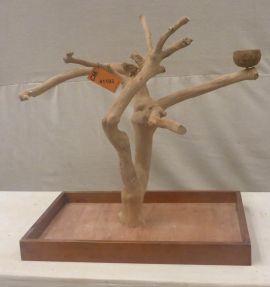 MINI JAVA TABLETOP TREE - MEDIUM - NATURAL HARDWOOD PARROT STAND M41193