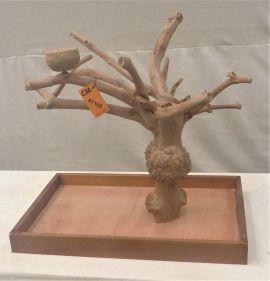 MINI JAVA TABLETOP TREE - MEDIUM - NATURAL HARDWOOD PARROT STAND M41199