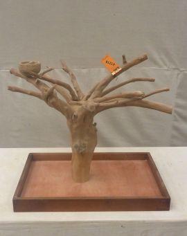 MINI JAVA TABLETOP TREE - MEDIUM - NATURAL HARDWOOD PARROT STAND M41218