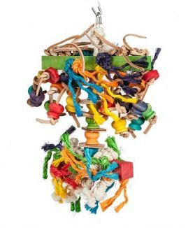 Spider Sisal Rope & Wood Bird Toy