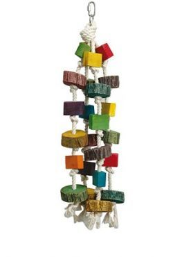 Blocks Medium Wood & Rope Bird Toy