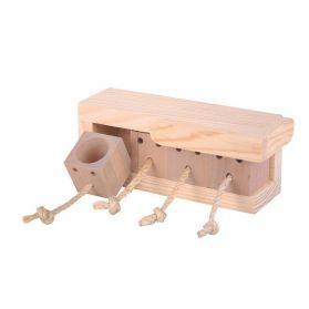 Doors Puzzle Activity Box Bird Toy