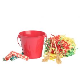 Festive Bucket Bird Toy