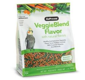 ZuPreem VeggieBlend Cockatiel & Small Bird Pellet Food 2lb