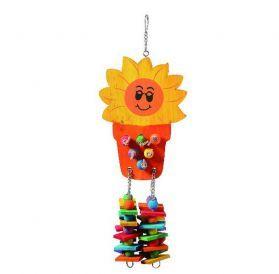Sunflower Pot Wooden Bird Toy