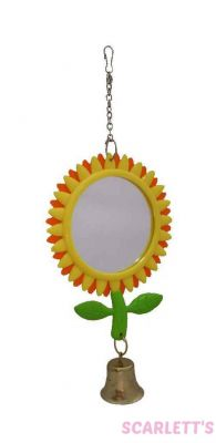 Small Bird Sunflower Mirror