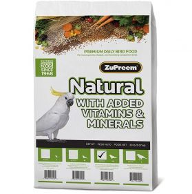 Zupreem Natural Large Bird Pellet Food 20lb