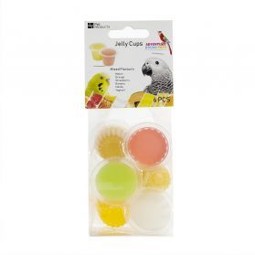 Fruit Cup Jellies Mixed Flavours Pack 6 - Bird Treat