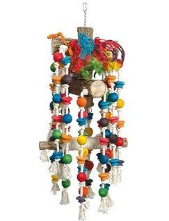 Scarletts Mega Toy - Large Bird Wood & Rope Toy