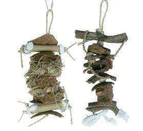 Natural Chewers Twin Pack Bird Toys