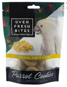 Oven Fresh Birdie Munchies Parrot Treat - Corn Fritter 4oz